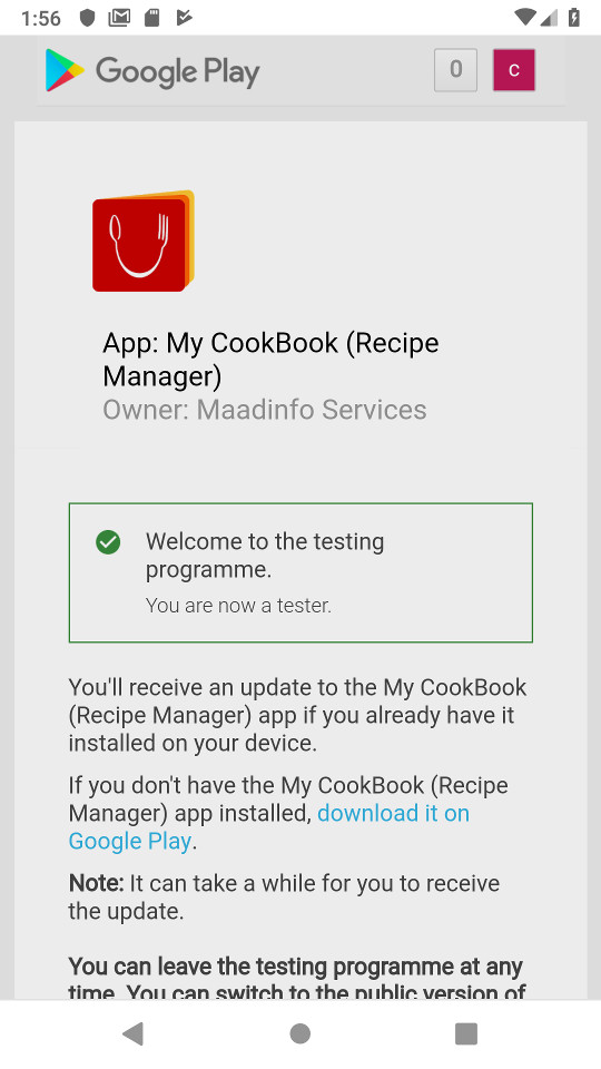 My CookBook Android Beta | My CookBook
